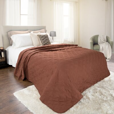 Mytsyk Solid Quilt Color: Chocolate, Size: Twin
