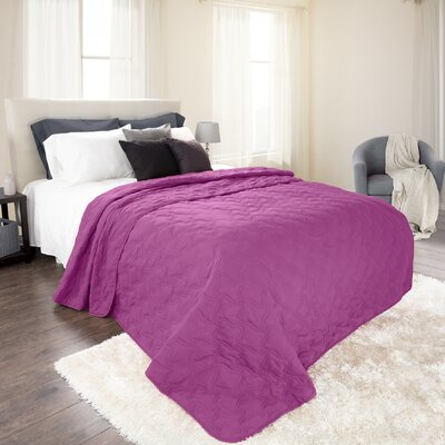 Mytsyk Solid Quilt Color: Purple, Size: Twin