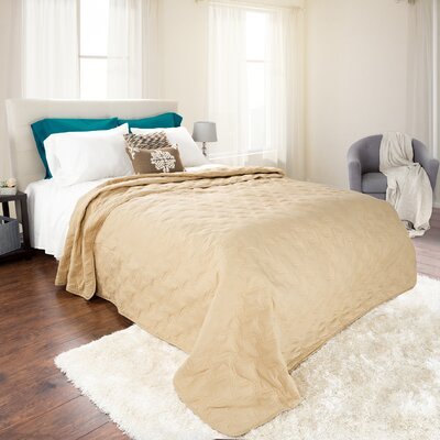 Mytsyk Solid Quilt Size: Full/Queen, Color: Taupe