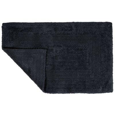 2 Piece Cotton Bath Rug Set Color: Black