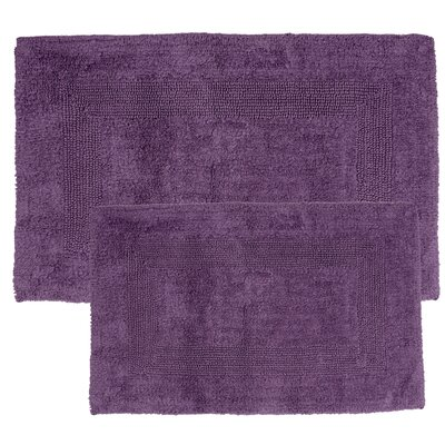 2 Piece Cotton Bath Rug Set Color: Eggplant