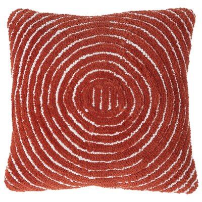 Mack Geometric Circle Throw Pillow Color: Red Orange