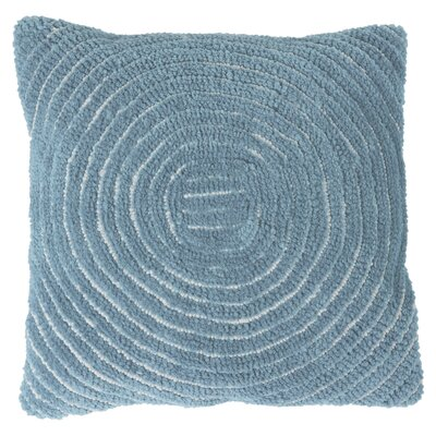 Mack Geometric Circle Throw Pillow Color: Blue