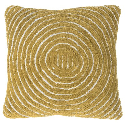 Mack Geometric Circle Throw Pillow Color: Yellow