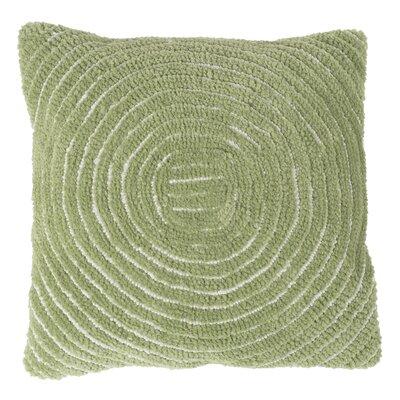 Mack Geometric Circle Throw Pillow Color: Green