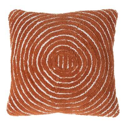 Mack Geometric Circle Throw Pillow Color: Orange