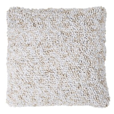Ivey Textured Loop Throw Pillow Color: Ivory
