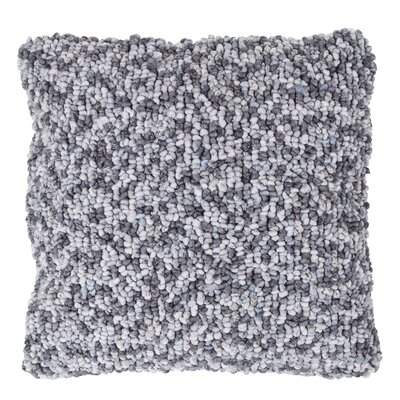 Ivey Textured Loop Throw Pillow Color: Gray