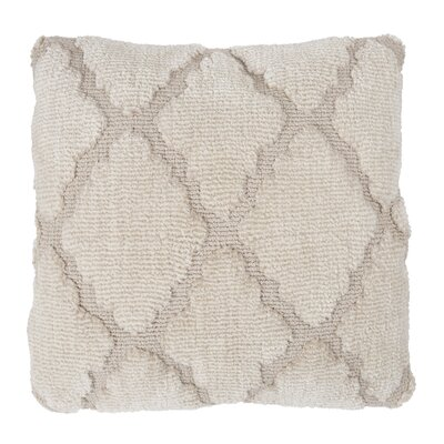 Fritzi Textured Trellis Throw Pillow Color: Beige