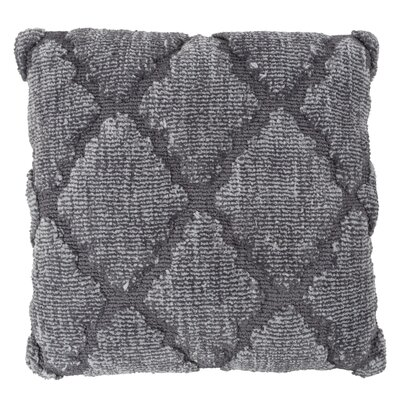 Fritzi Textured Trellis Throw Pillow Color: Gray