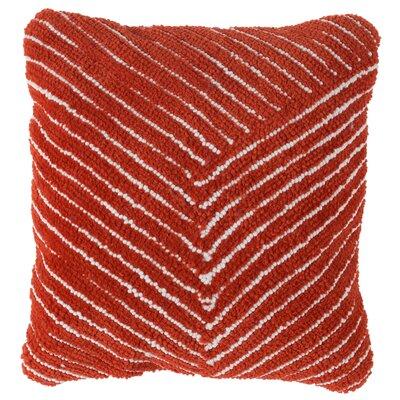 Korey Diagonal Stripe Throw Pillow Color: Red Orange