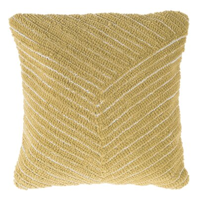 Korey Diagonal Stripe Throw Pillow Color: Yellow
