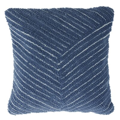 Korey Diagonal Stripe Throw Pillow Color: Navy
