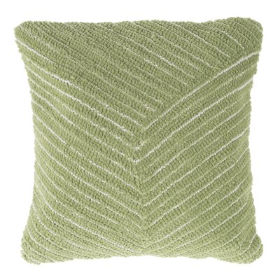 Korey Diagonal Stripe Throw Pillow Color: Green