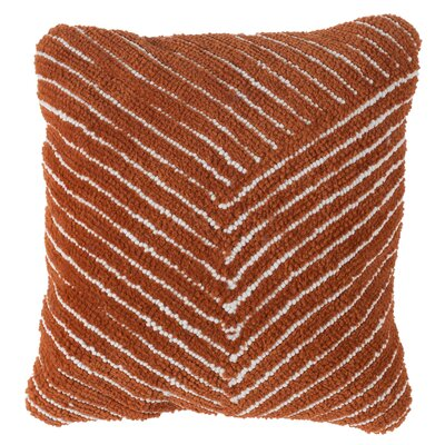 Korey Diagonal Stripe Throw Pillow Color: Orange