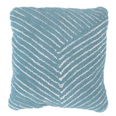 Korey Diagonal Stripe Throw Pillow Color: Blue