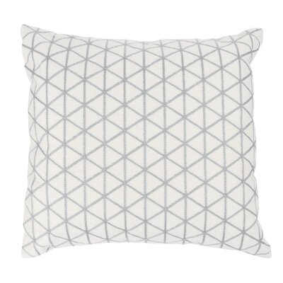 Duy Geometric Triangle Throw Pillow Color: Silver