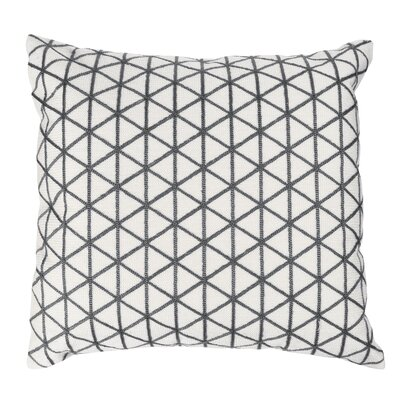 Duy Geometric Triangle Throw Pillow Color: Charcoal