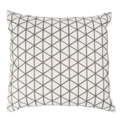 Duy Geometric Triangle Throw Pillow Color: Taupe