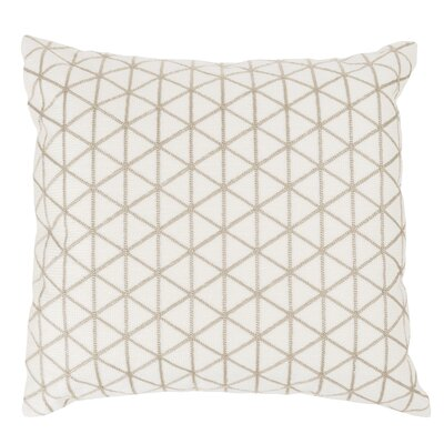 Duy Geometric Triangle Throw Pillow Color: Beige