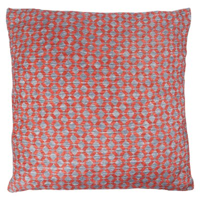 Foerster Geometric Diamond Throw Pillow Color: Red Orange