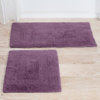 Marylee 2 Piece Reversible Bath Rug Set Color: Eggplant