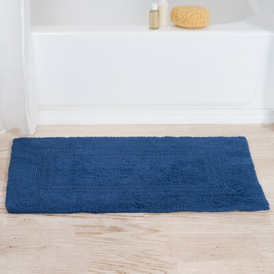 Mayfield Reversible Bath Rug Color: Navy