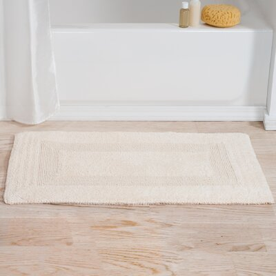 Mayfield Reversible Bath Rug Color: Ivory
