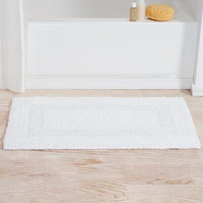 Mayfield Reversible Bath Rug Color: White