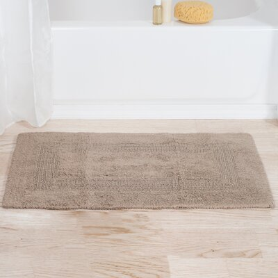 Mayfield Reversible Bath Rug Color: Taupe
