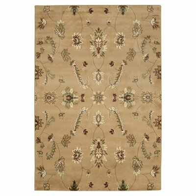 Light Brown Flowers Infinity Area Rug Rug Size: 5 x 8