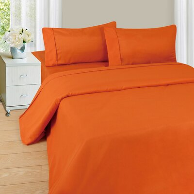Series 1200 Microfiber Sheet Set Size: Twin, Color: Rust