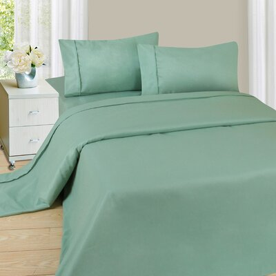 Series 1200 Microfiber Sheet Set Size: Full, Color: Sage