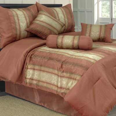 Kendall Jacquard 7 Piece Comforter Set Size: King