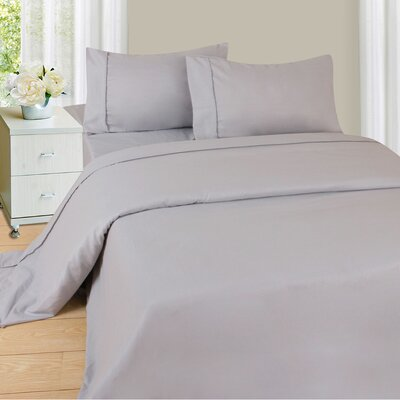 Series 1200 Microfiber Sheet Set Size: King, Color: Silver