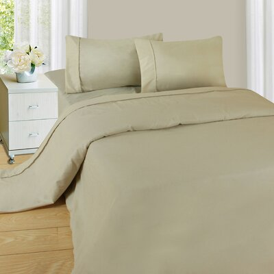 Series 1200 Microfiber Sheet Set Size: King, Color: Taupe