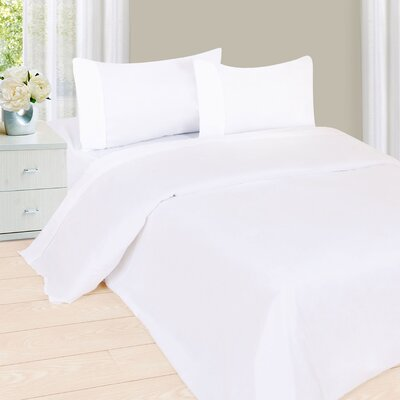 Series 1200 Microfiber Sheet Set Size: Full, Color: White