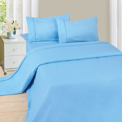 Series 1200 Microfiber Sheet Set Size: Queen, Color: Blue