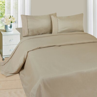 Series 1200 Microfiber Sheet Set Size: Queen, Color: Bone