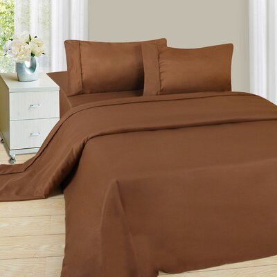 Series 1200 Microfiber Sheet Set Size: King, Color: Chocolate