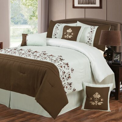 Hannah 7 Piece Comforter Set Size: King