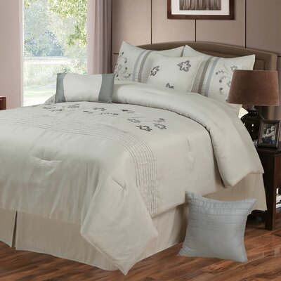 Daniela 7 Piece Comforter Set Size: King