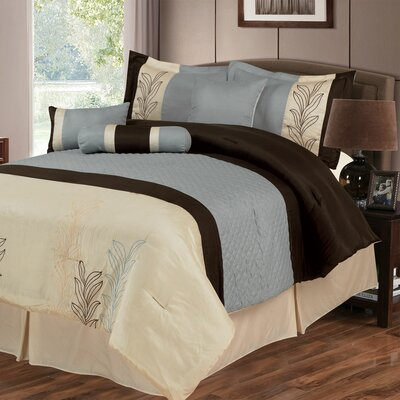 Samantha 7 Piece Comforter Set Size: King