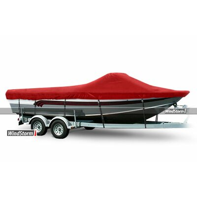 WindStorm Fishing Boat Cover with High Windshield Color: Teal