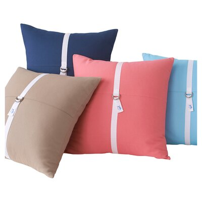 D-Ring Throw Pillow Color: Sunset Pink