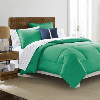 Southern Tide Solid Comforter Size: King, Color: Emerald