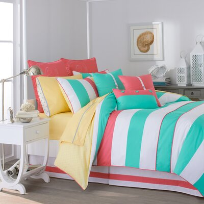Cabana Stripe Reversible Comforter Set Size: California King