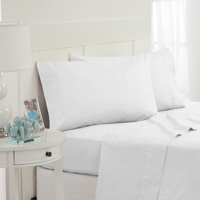 Skipjack 300 Thread Count 100% Cotton Sheet Set Color: White, Size: Queen