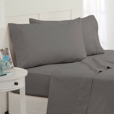 Skipjack 300 Thread Count 100% Cotton Sheet Set Color: Grey, Size: Twin