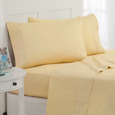 Skipjack 300 Thread Count 100% Cotton Sheet Set Color: Yellow, Size: Twin